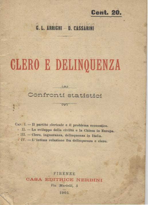 CLERO E DELINQUENZA